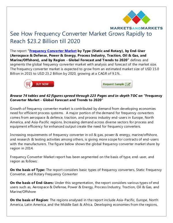 Energy and Power Frequency Converter Market
