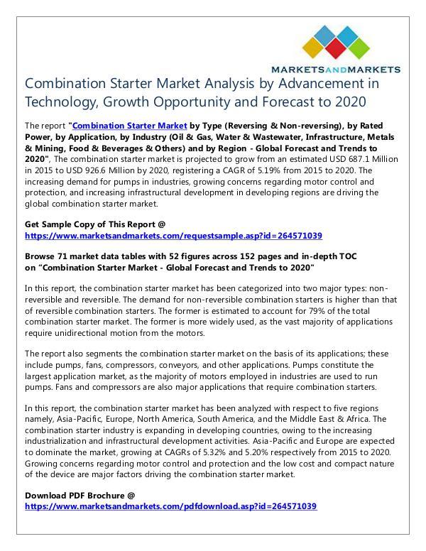 Combination Starter Market