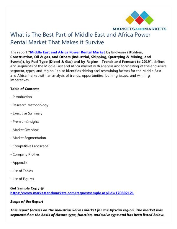 Middle East and Africa Power Rental Market