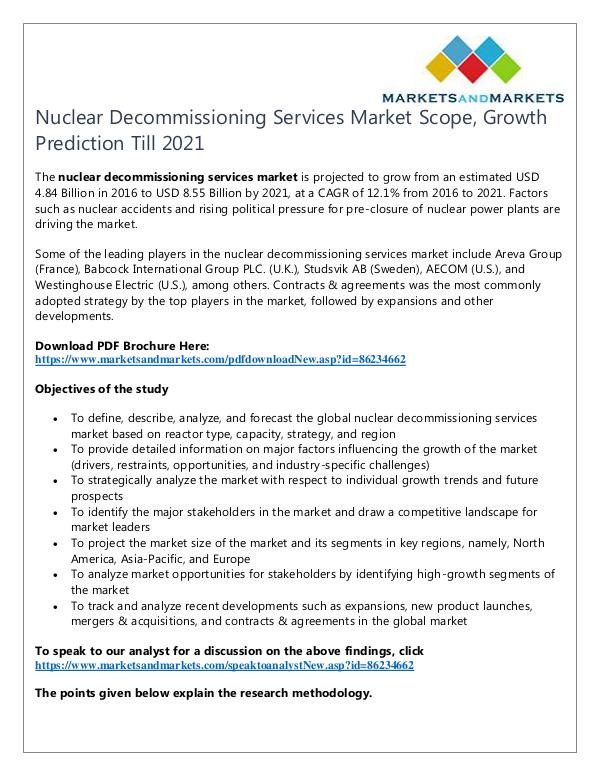 Energy and Power Nuclear Decommissioning Services Market1