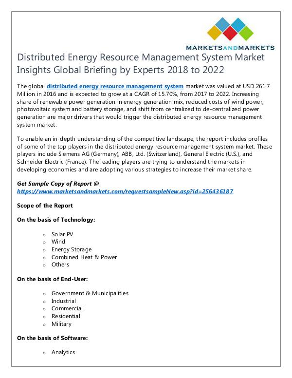 Energy and Power Distributed Energy Resource Management System Mark