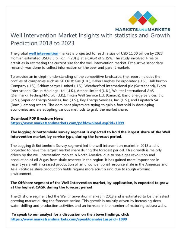 Energy and Power Well Intervention Market