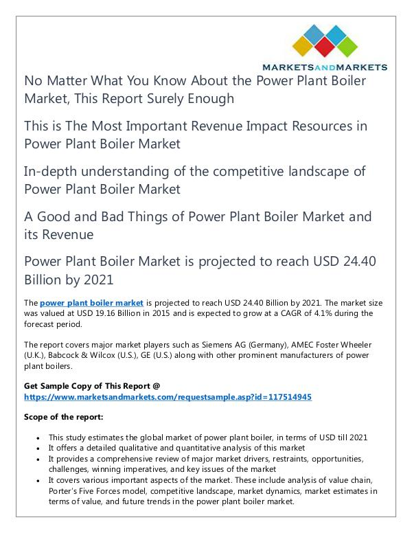 Energy and Power Power Plant Boiler Market