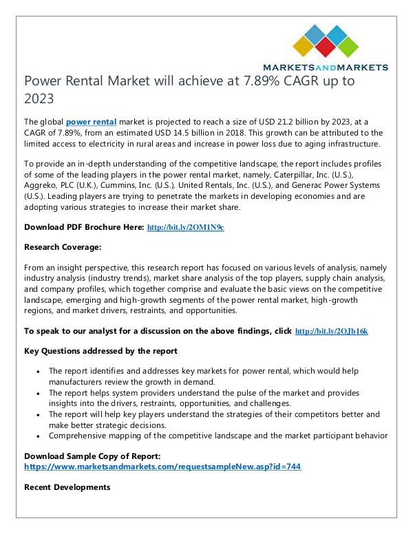 Energy and Power Power Rental Market