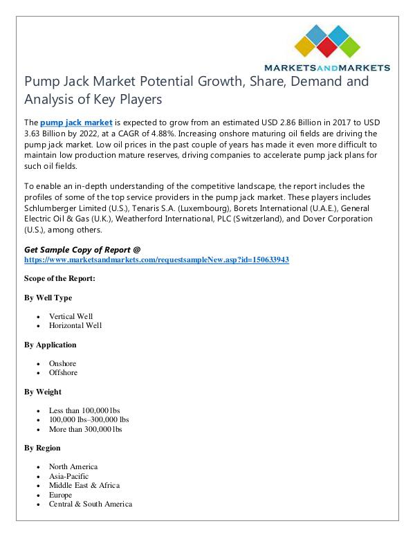 Energy and Power Pump Jack Market