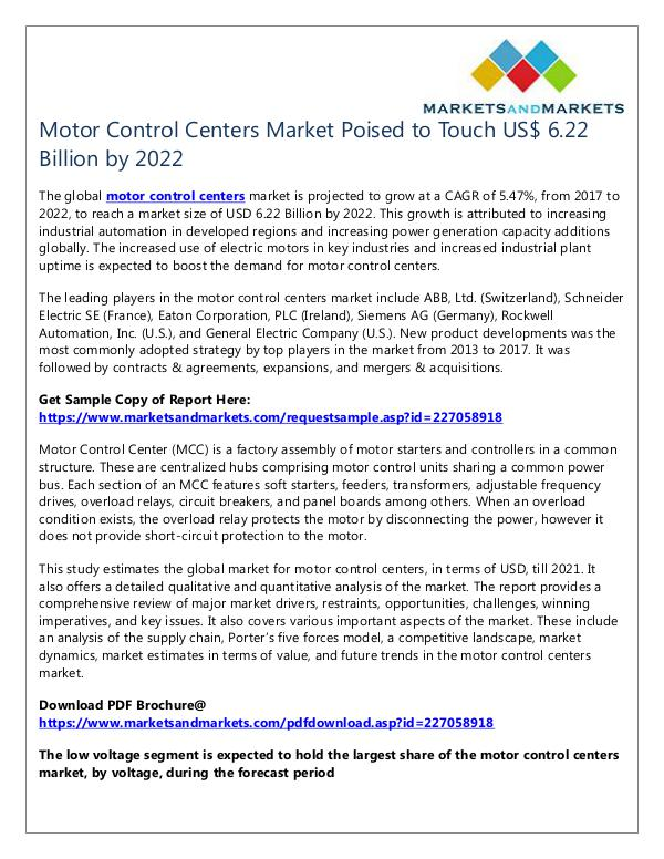 Motor Control Centers Market