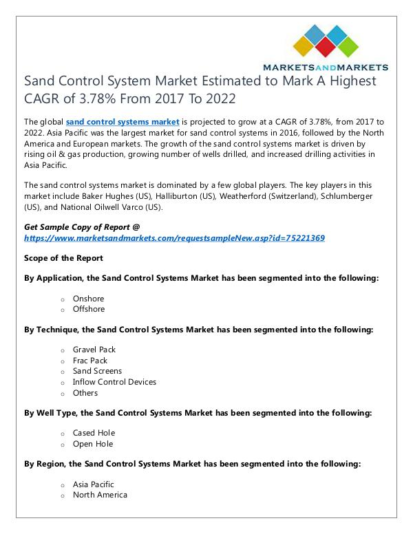 Energy and Power Sand Control System Market