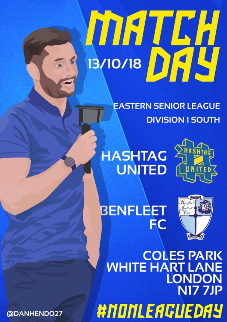 Hashtag United match day programmes v Benfleet