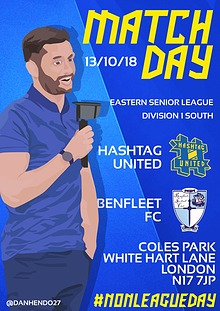 Hashtag United match day programme 2018/19