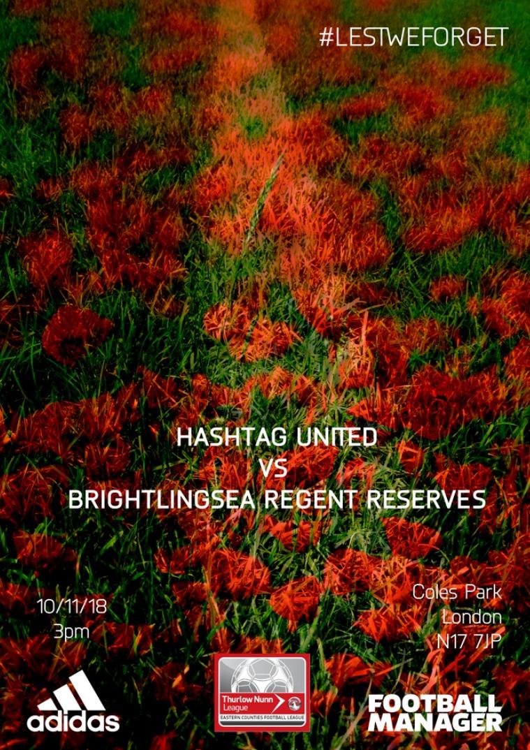 Hashtag United match day programmes v Brightlingsea Regent Reserves