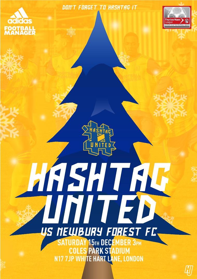Hashtag United match day programmes v Newbury Forest