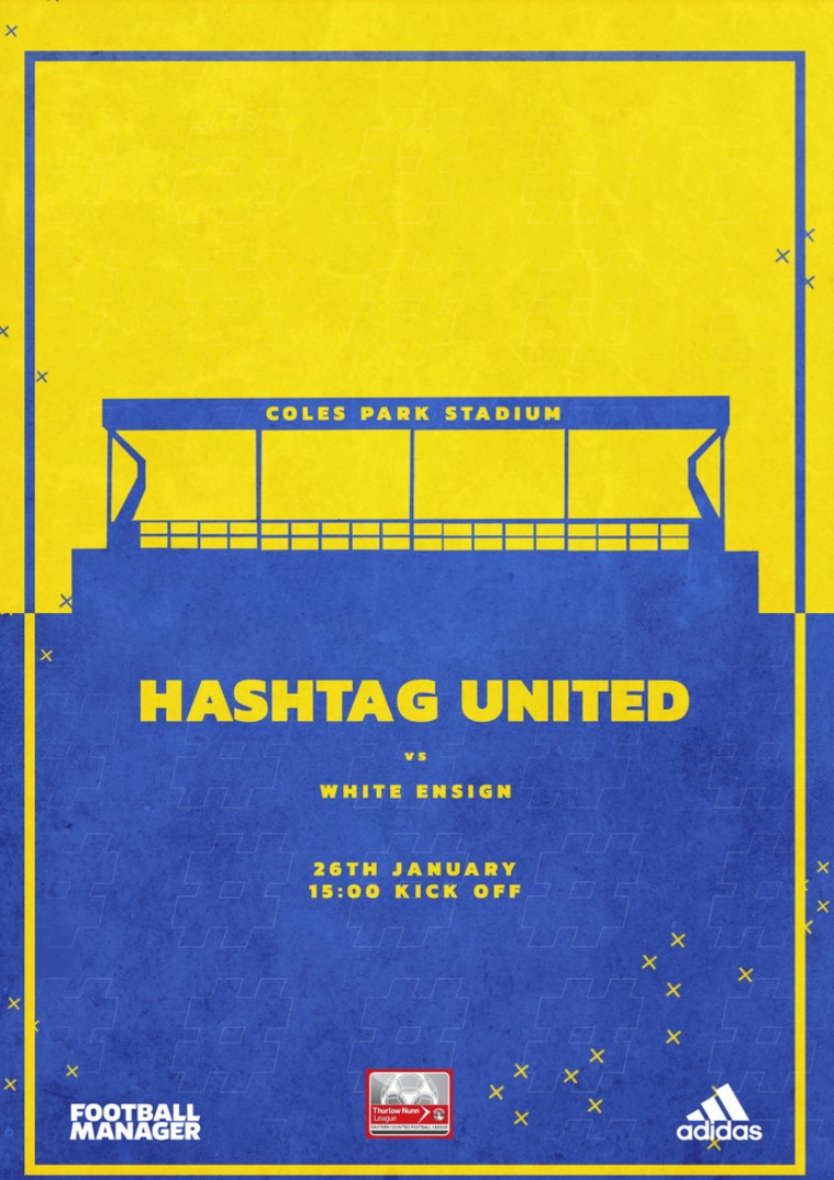 Hashtag United match day programmes v White Ensign