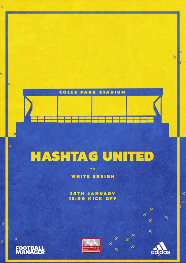 Hashtag United match day programmes v White Ensign