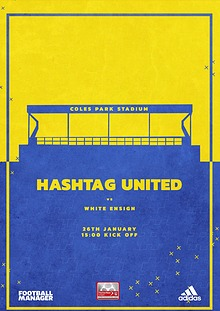 Hashtag United match day programmes