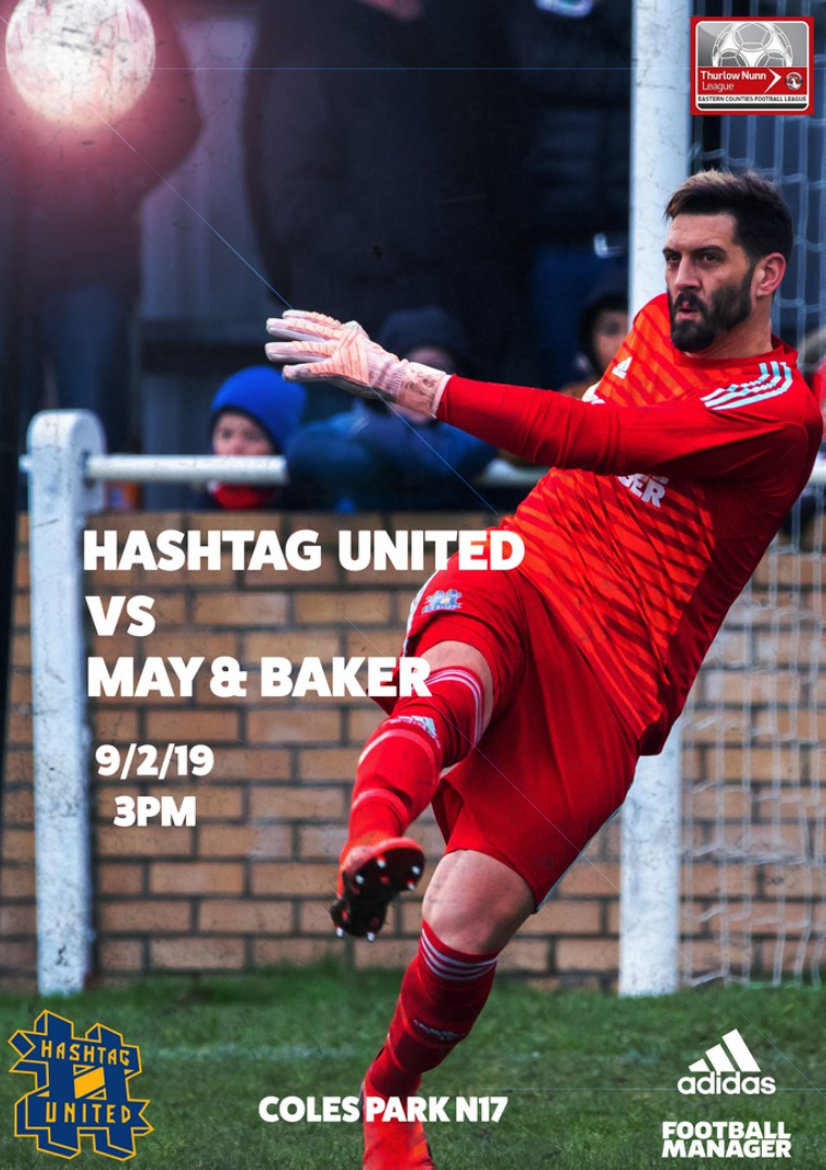 Hashtag United match day programmes v May and Baker