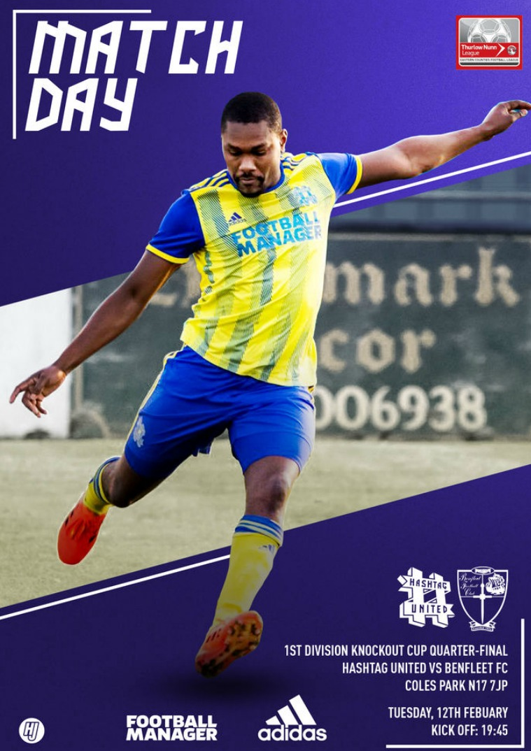 Hashtag United match day programmes v Benfleet