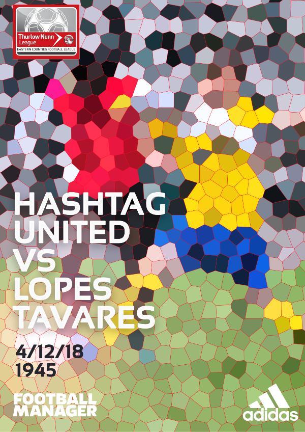 Hashtag United match day programmes v Lopes Tavares