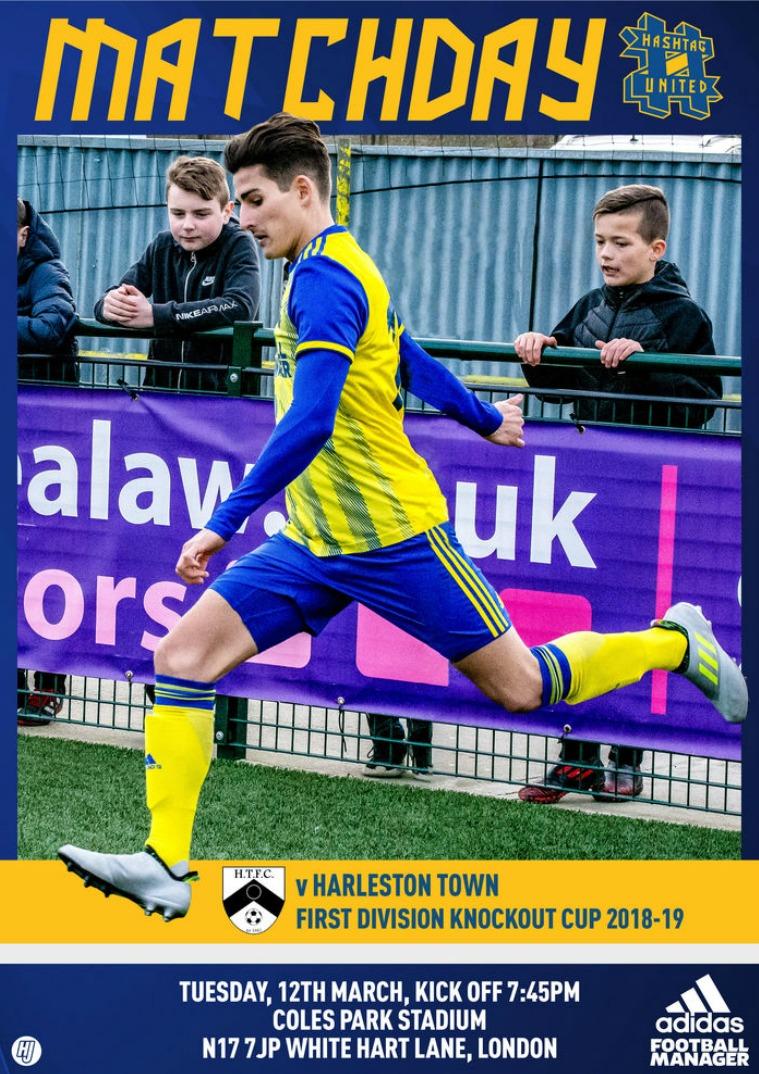Hashtag United match day programmes v Harleston Town