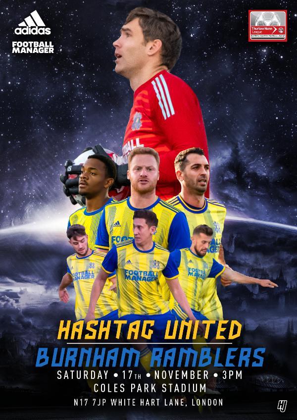 Hashtag United match day programmes v Burnham Ramblers
