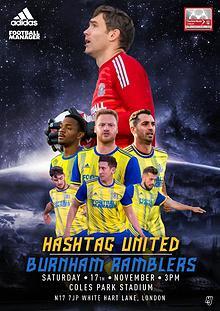 Hashtag United match day programme 2018/19