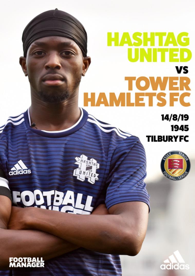 Hashtag United match day programmes v Tower Hamlets FC
