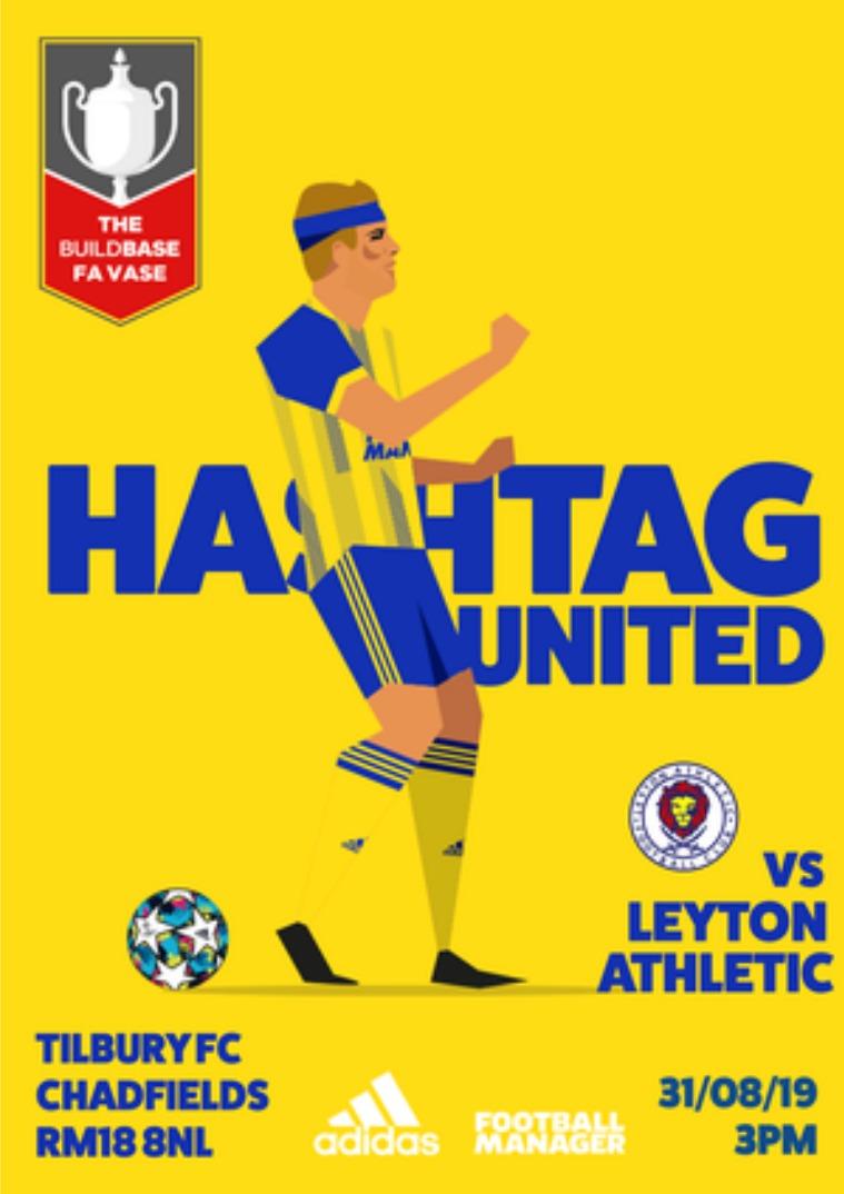 Hashtag United match day programmes v Leyton Athletc