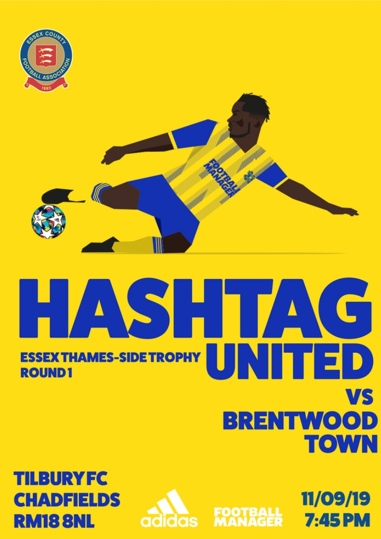 Hashtag United match day programmes v Brentwood Town