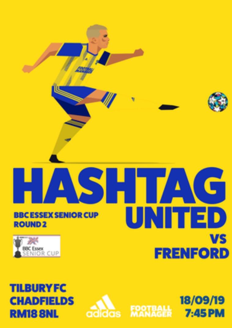 Hashtag United match day programmes v Frenford