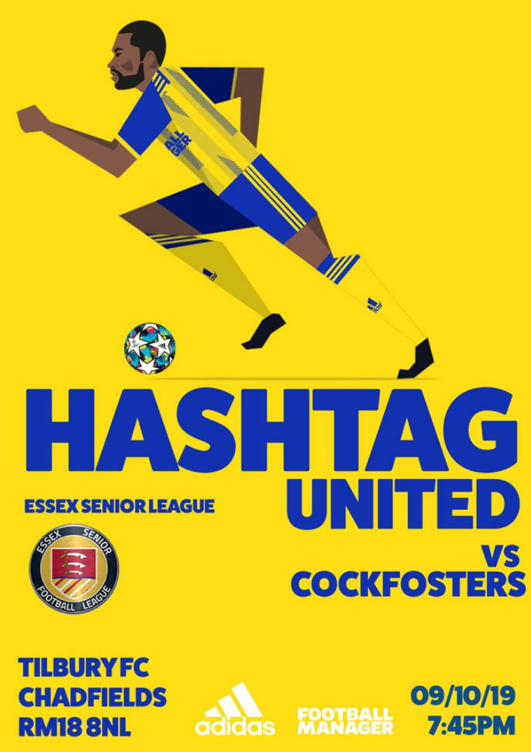 Hashtag United match day programmes v Cockfosters