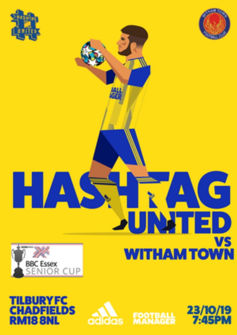 Hashtag United match day programmes v Witham Town