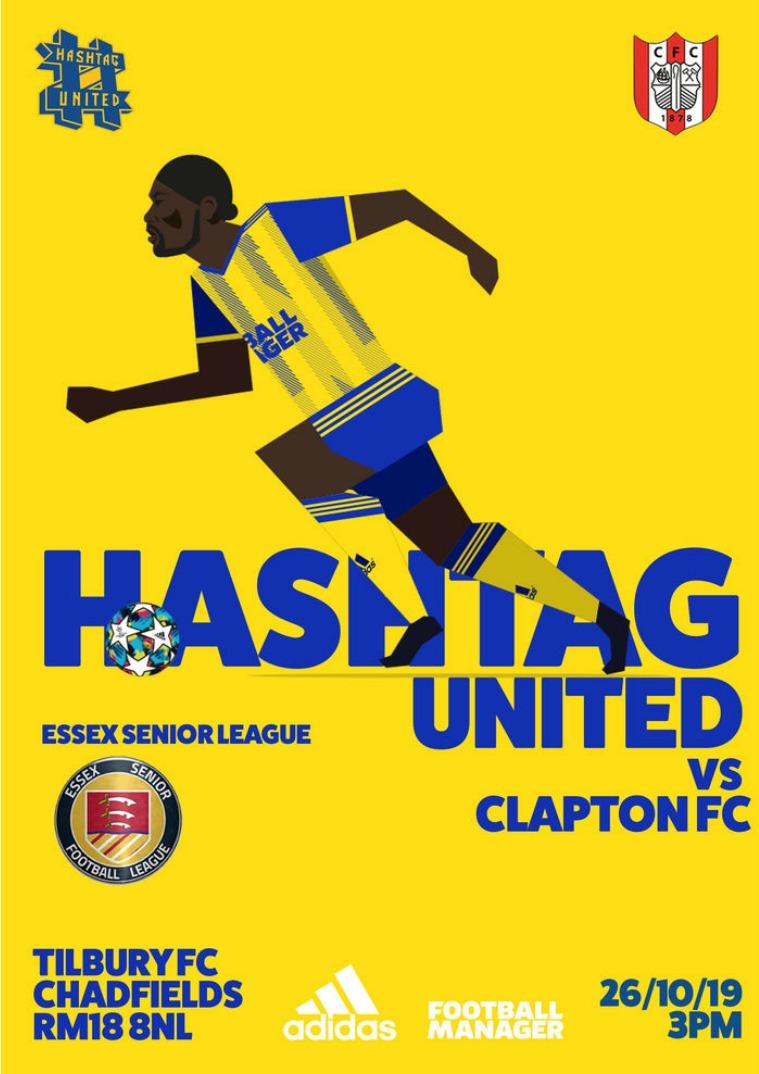 Hashtag United match day programmes v Clapton FC