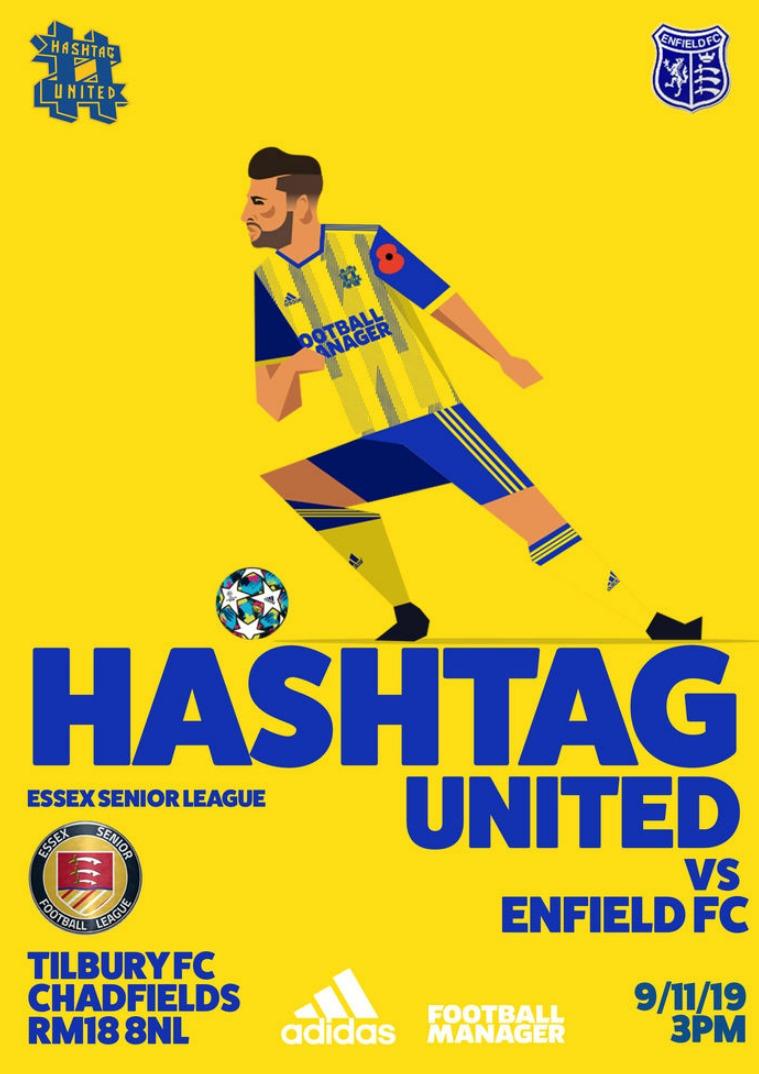 Hashtag United match day programmes v Enfield FC