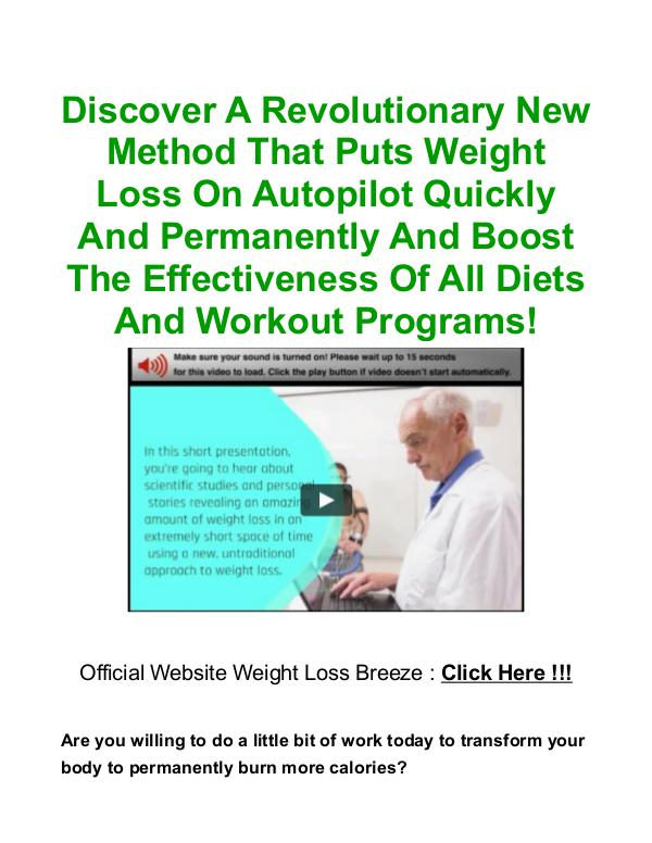 Weight Loss Breeze PDF, Book Free Download Program Christian Goodman Weight Loss Breeze