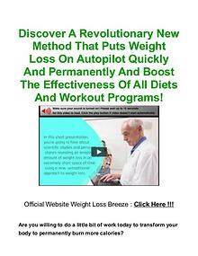 Weight Loss Breeze PDF, Book Free Download