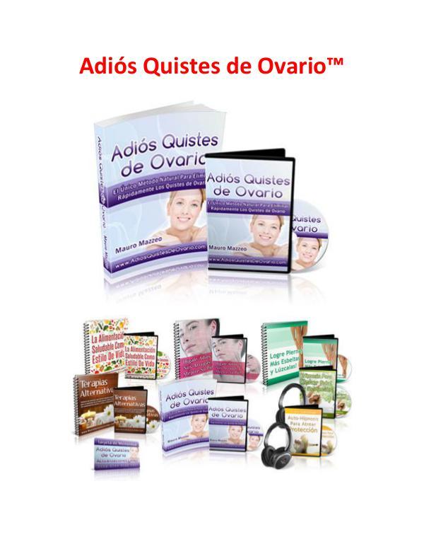 Adios Quistes De Ovario PDF, Libro Gratis Descargar Mauro Mazzeo Adios Quistes De Ovario