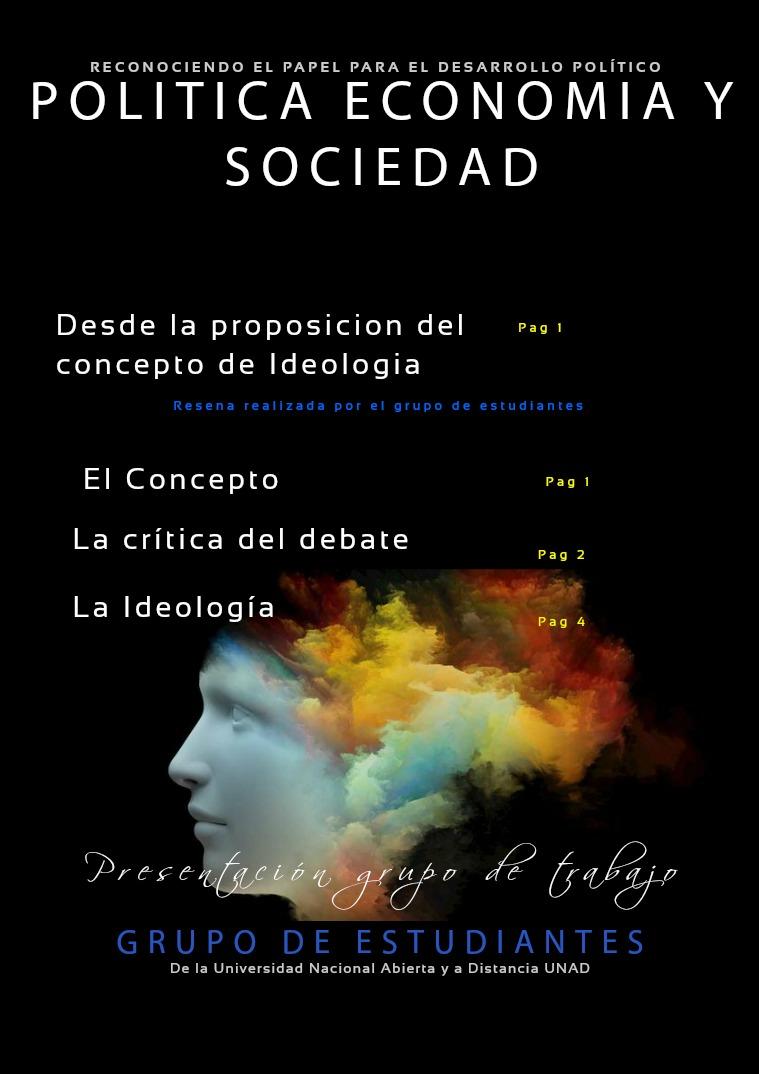 Política, economía y sociedad - Ideología I