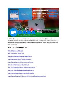 Judi Poker Online Deposit Pakai DANA Cash