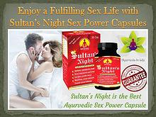 Enjoy a Fulfilling Sex Life with Sultan's Night Sex Power Capsules