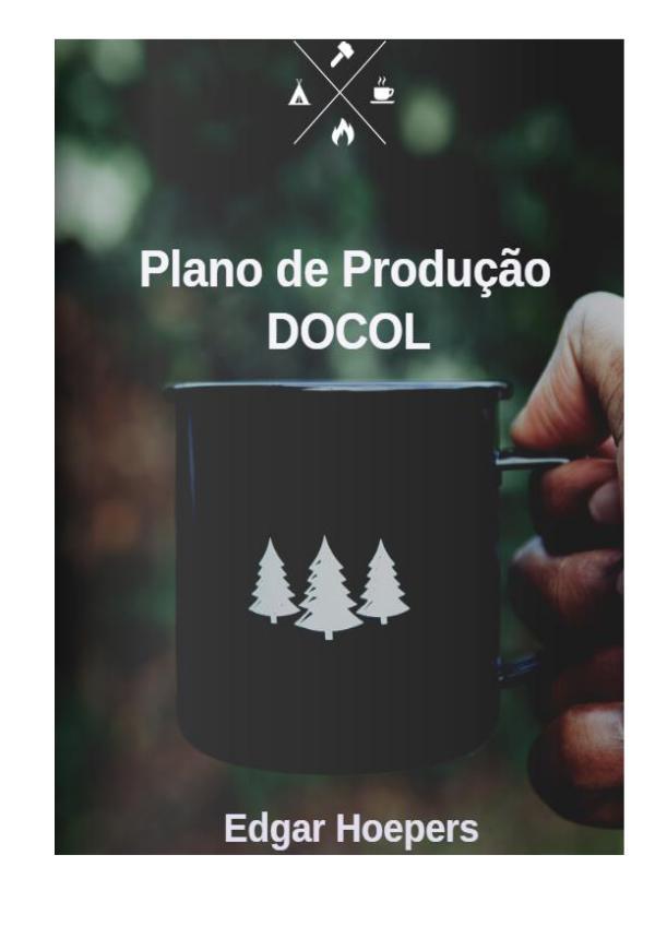 Minha primeira Revista Plano de produção DOCOL - Atualizado