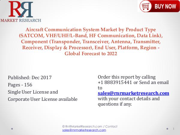 Aircraft Communication System Market 2022 Trend and Growth Report Aircraft Communication System Market
