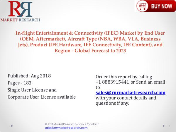 Global In-flight Entertainment & Connectivity Market 2018-2023 In-flight Entertainment & Connectivity (IFEC) Mark