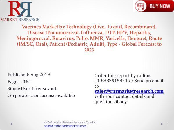 Global Vaccines Market Report 2018-2023 Vaccines Market