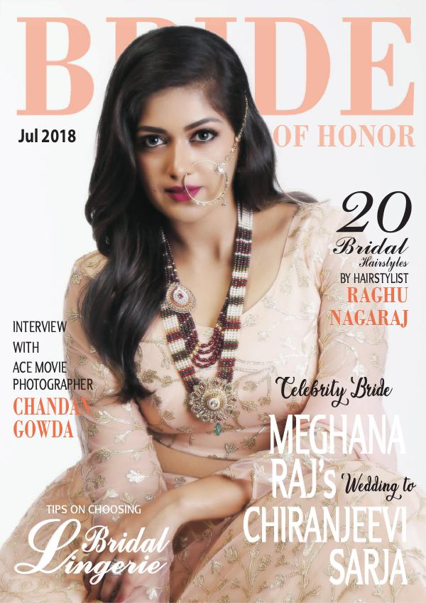 My first Magazine Bride of Honor Magazine July 2018 Issue