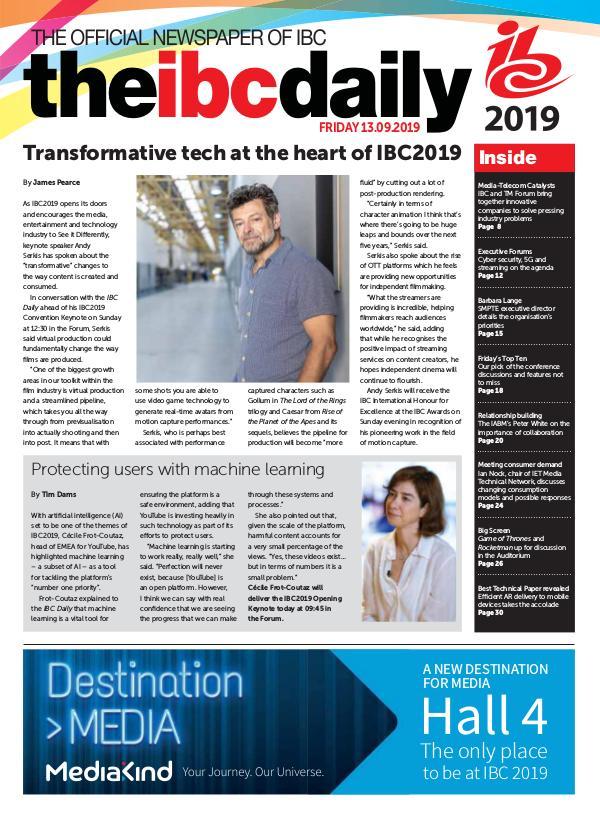IBC Daily IBC2019 - Day 1 - Friday 13 September