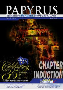 UAP CBD CHAPTER INDUCTION OF NEW OFFICERS AND MEMBERS FY 2018 - 2019