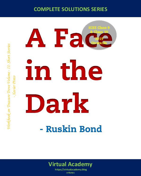 My first Magazine A Face in the Dark, Ruskin Bond