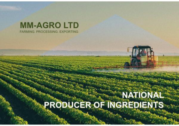 MM AGRO. National supplier of ingredients Presentation